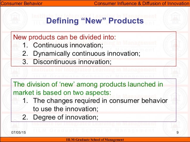 the impact of innovation on consumers behavior The concept of diffusion of innovation refers to the spreading of consumption of an innovation, through communication channels in a social system an innovation is a product, service, idea, process, behavior, or any other object which is considered new by consumers.