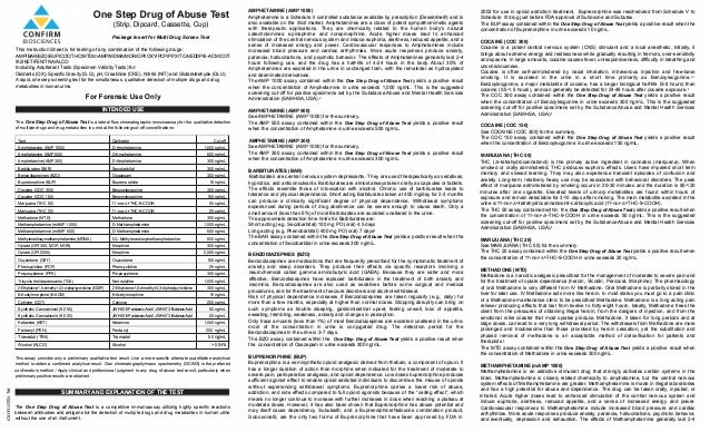 One Step Drug of Abuse Test (Strip, Dipcard, Cassette, Cup) Package Insert for Multi Drug Screen Test 1) � This Instructio...