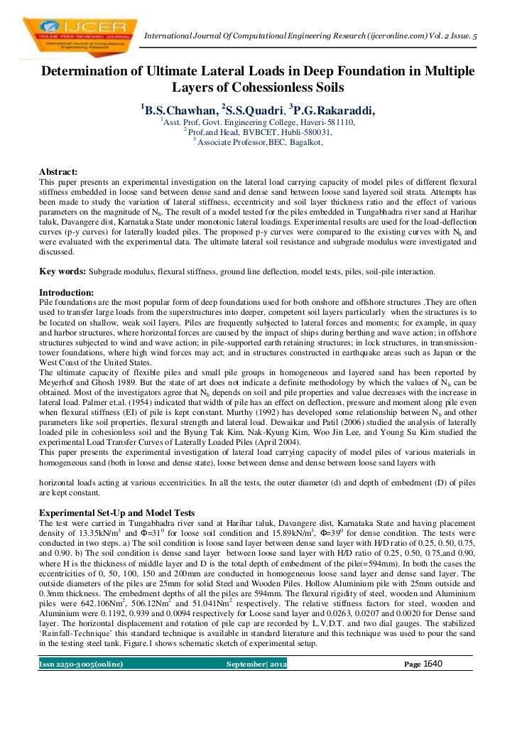 International Journal Of Computational Engineering Research (ijceronline.com) Vol. 2 Issue. 5Determination of Ultimate Lat...