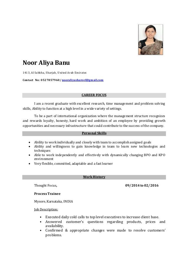 Beautiful Aliya Company Resume. Noor Aliya Banu 1413, Al Sabkha, Sharjah, United Arab  Emirates Contact No: ... Regard To Resume Company