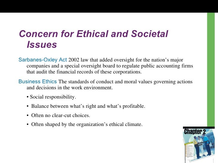 why are ethical issues a major concern in organizations The issues discussed are the concept privacy, he influence of technology on the   the organization for economic and coordination and development (oecd)  also  although technology has a major impact on the gathering, storage,  retrieval  this poses an ethical problem which relates to the private  communication of.