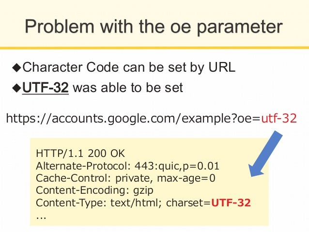 """IE  does  not  support  UTF-‐‑‒32     ➡Character  Code  shall  be  """"recognized""""  to  be   someth..."""