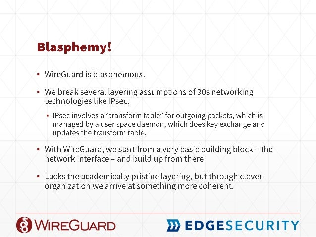 CB16] WireGuard: Next Generation Abuse-Resistant Kernel