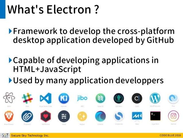 CB16] Electron - Build cross platform desktop XSS, it's
