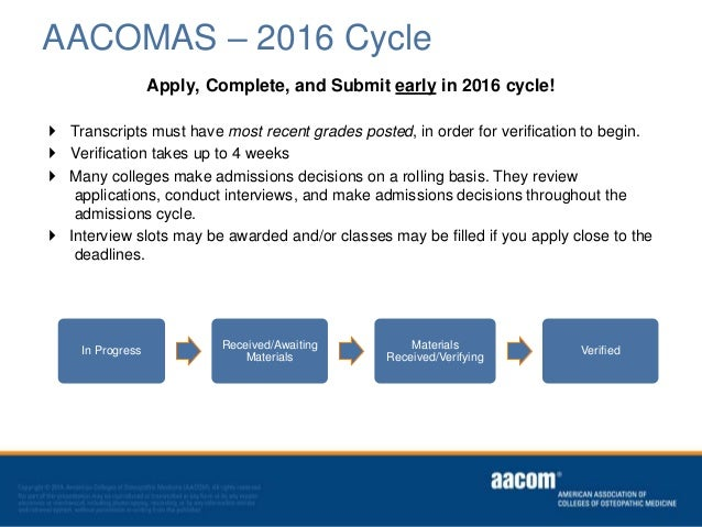 aacomas application letter of recommendation