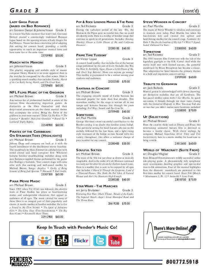 Pender's Picks the Pops 2012   Concert Band Sheet Music (pdf)