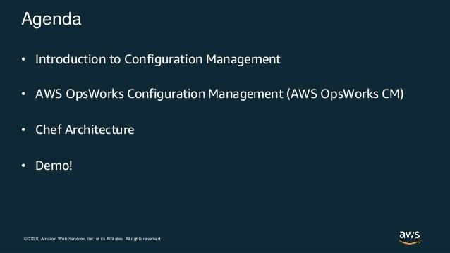OpsWorks Configuration Management: automatizza la gestione e i deployment delle istanze EC2  Slide 2