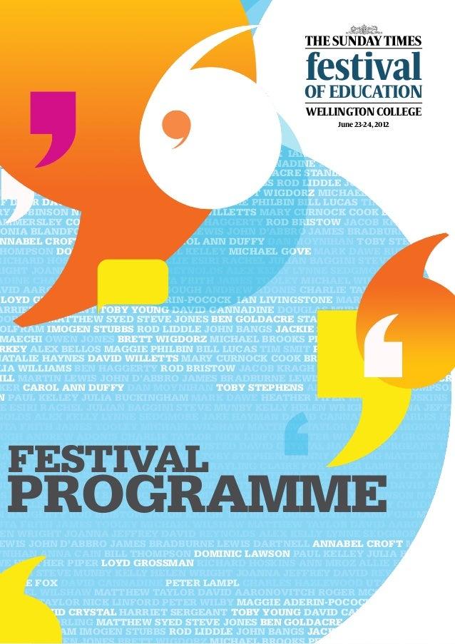 Ed Fest Programme June 18