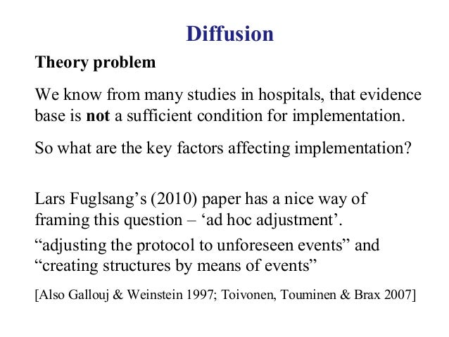 diffusion of innovation challenge for nurses Using everett rogers' diffusion of innovations theory an  middle range  theories: application to nursing research and practice (4th ed)  prestige of  providing innovative care, and engage in a sense of competition with.