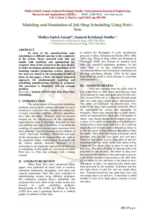 Mullya Satish Anand, Santosh Krishnaji Sindhe / International Journal of Engineering           Research and Applications (...