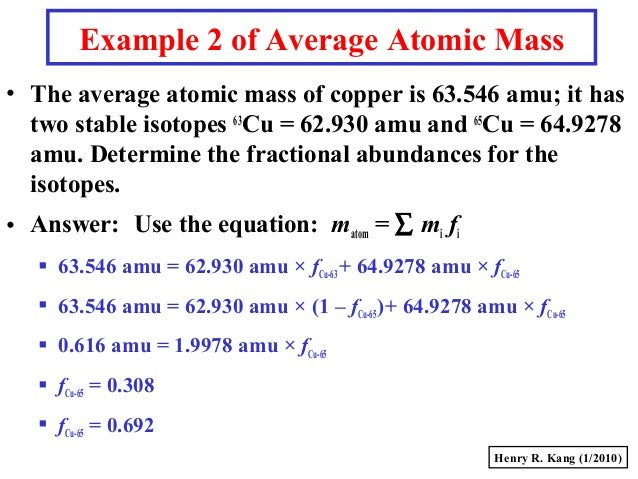 Gc s008 massmole 10 example 2 of average atomic mass urtaz Gallery