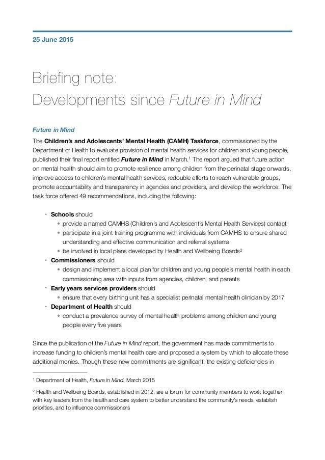 briefing note samples