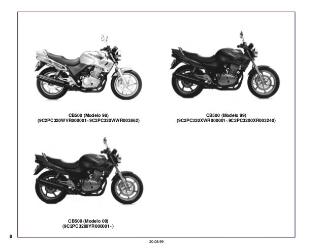 Manual Moto Cb500