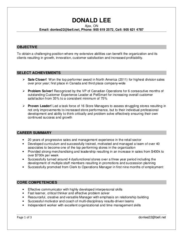 Donald Lee -Sales, Management and Operations- Resume May 2016
