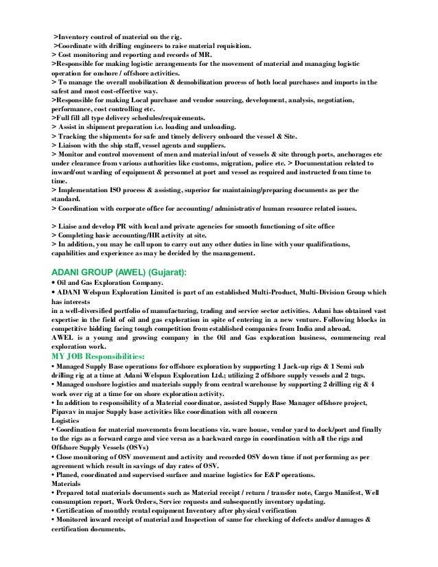 resume oil u0026 gas