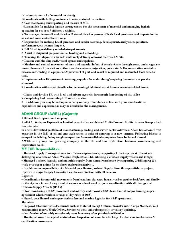 Resume-Oil & Gas