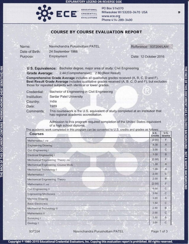 Degree Comp Evaluation 3 Pages