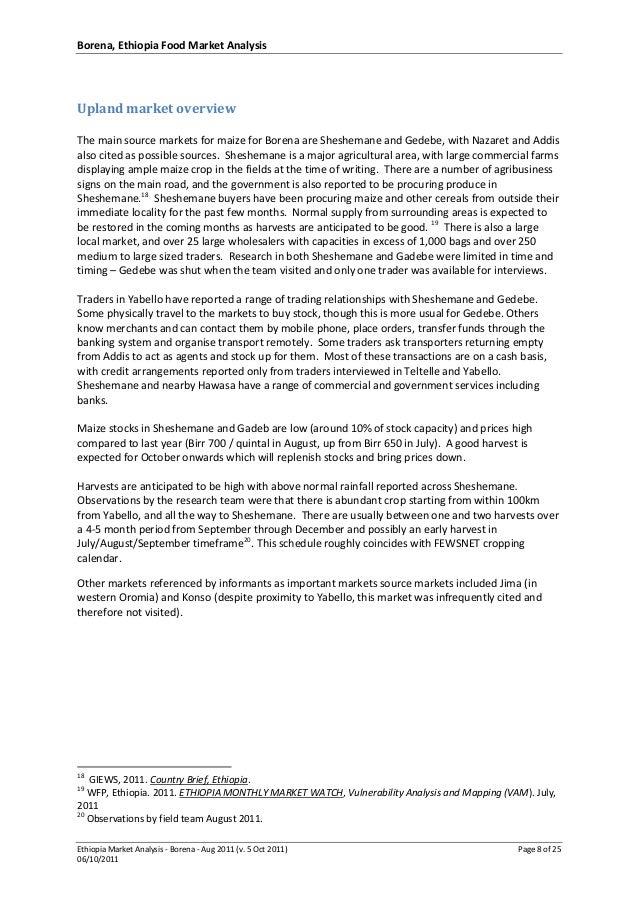Ethiopia Borena Maize Market Analysis - Aug 2011 FINAL