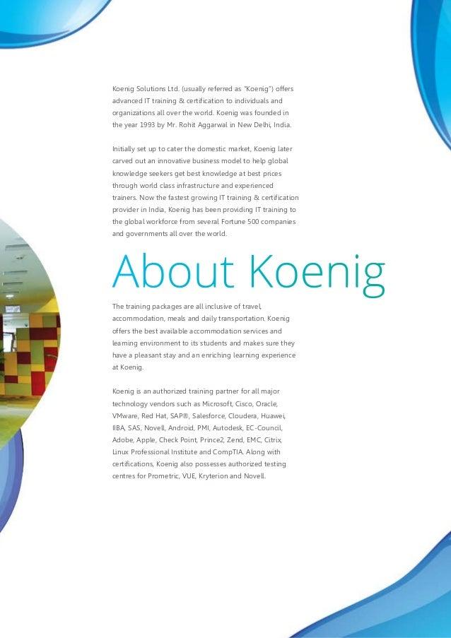 Modern Classroom Certified Trainer ~ Koenig corporate brochure