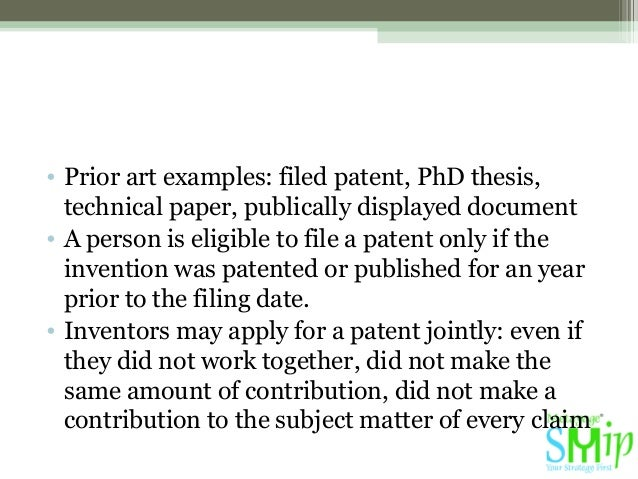 prior art thesis The thesis report documents the results of the master's thesis project (use:   the thesis report contains a chapter with prior art that describes previous work  and.