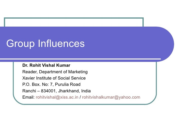 The Nature Of Reference Group Influence Marketing Essay