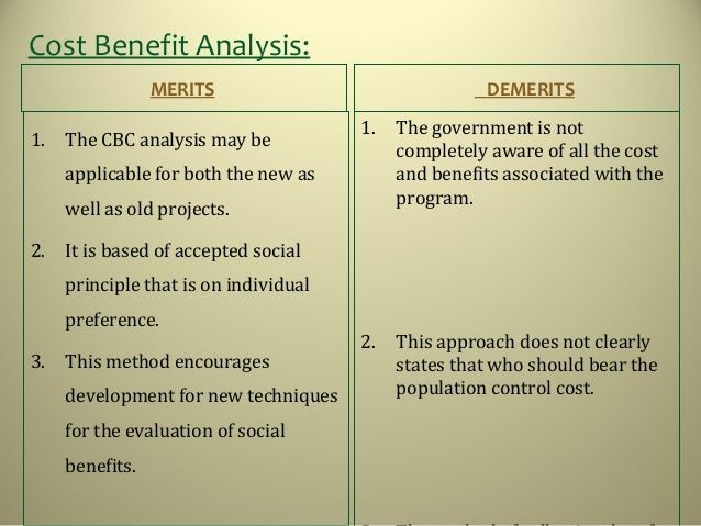 Cost Benefit Analysis: ...