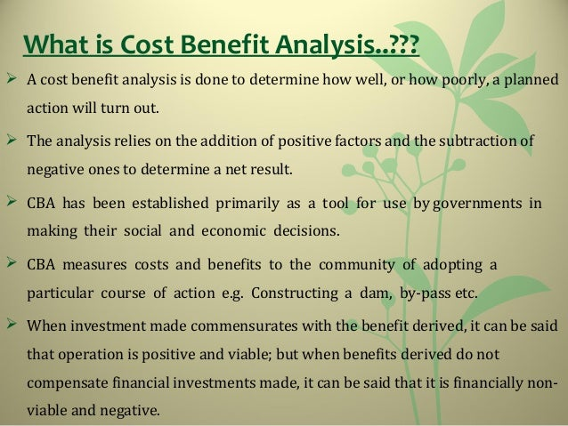 BENEFITS U003e COSTS; 3.