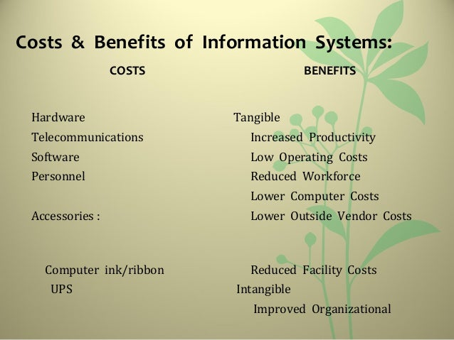 Costs U0026 Benefits ...