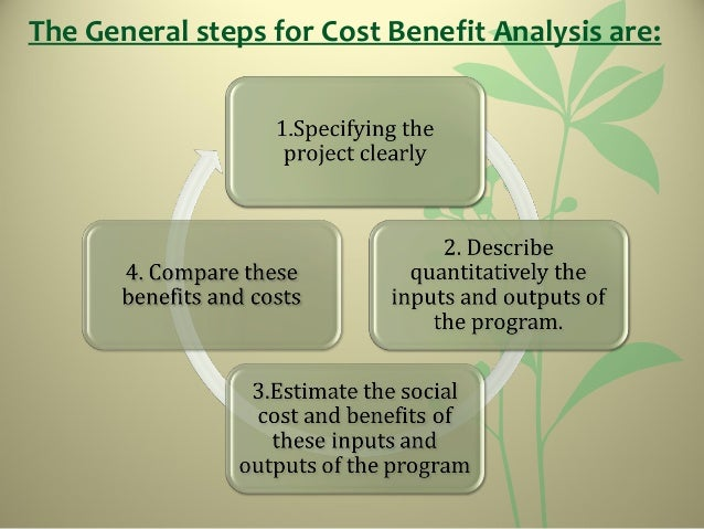 The General Steps For Cost Benefit Analysis Are: ...
