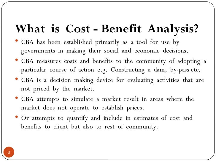 how to write a cost benefit analysis