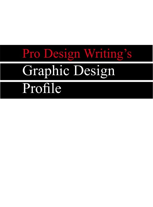 Pro Design Writing's Graphic Design Profile
