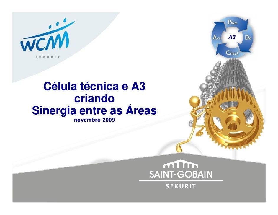 A3       Célula técnica e A3         criando Sinergia entre as Áreas        novembro 2009
