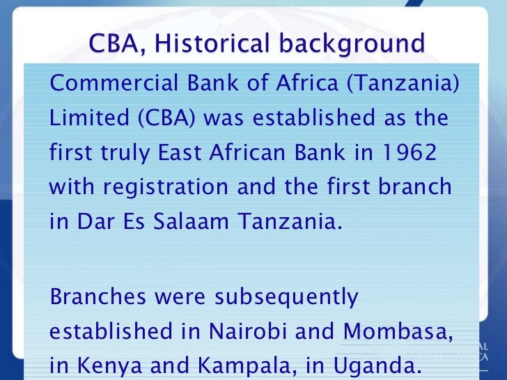 An analysis of commercial bank of africa