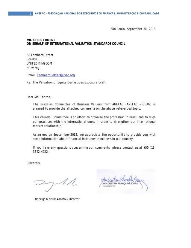 1 ANEFAC - ASSOCIAÇÃO NACIONAL DOS EXECUTIVOS DE FINANÇAS, ADMINISTRAÇÃO E CONTABILIDADE São Paulo, September 30, 2013 MR....