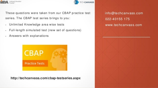 CBAP Exam Questions