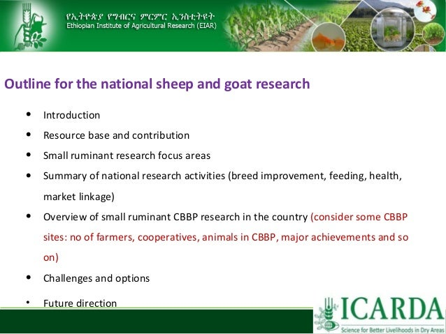 Sheep and goat research and development of Ethiopia