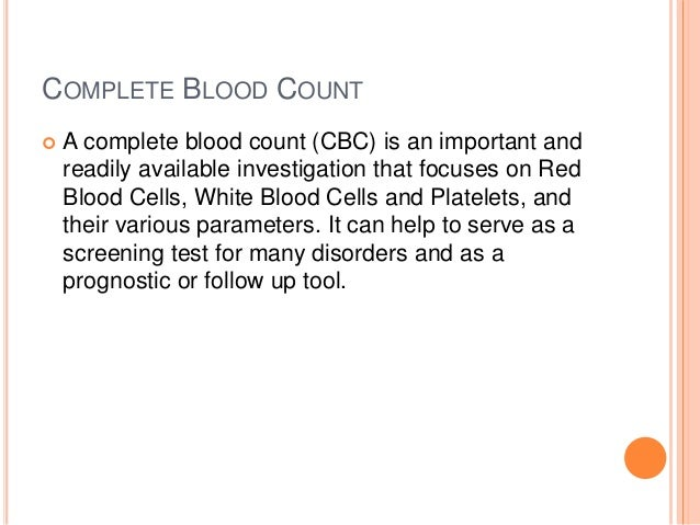 Complete Blood Count, Interpretations