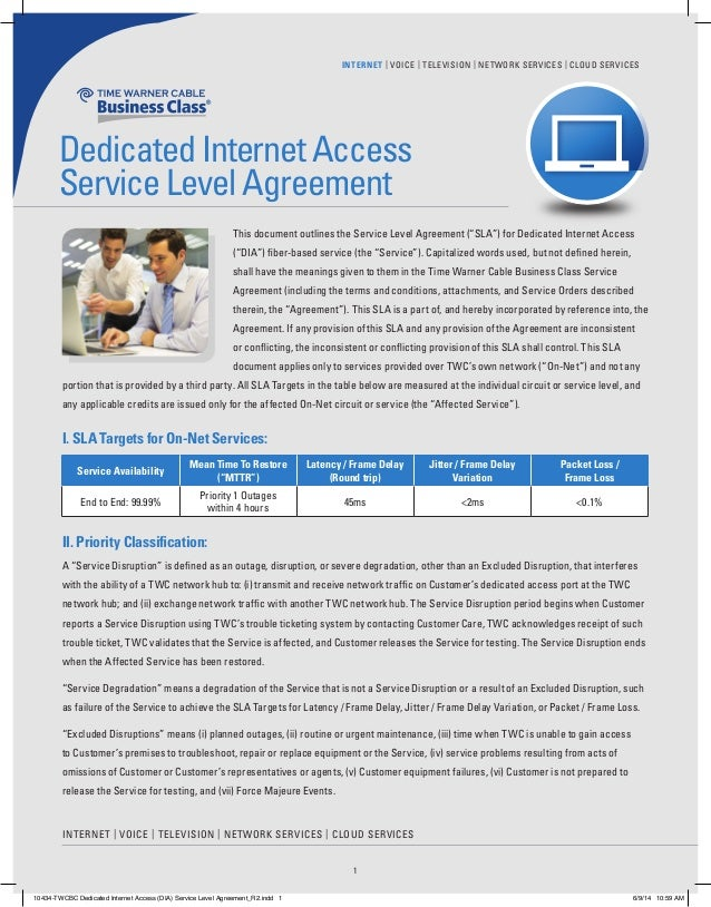 Twcbc Dedicated Internet Access Dia Service Level Agreementfinal