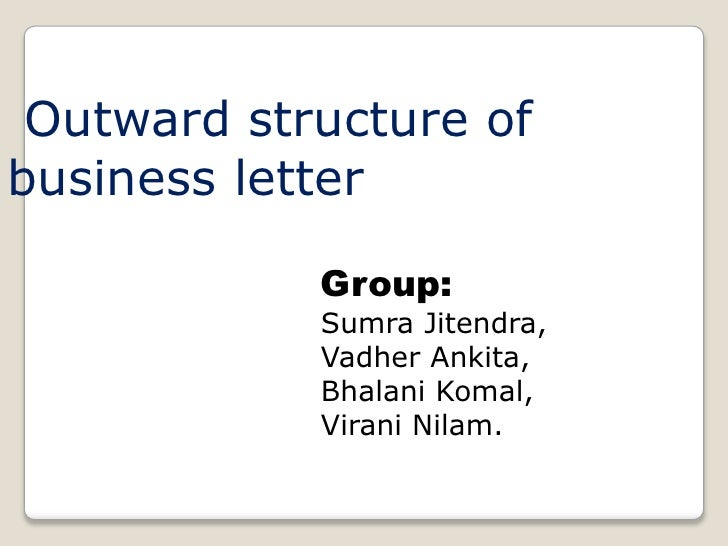 business letter structure