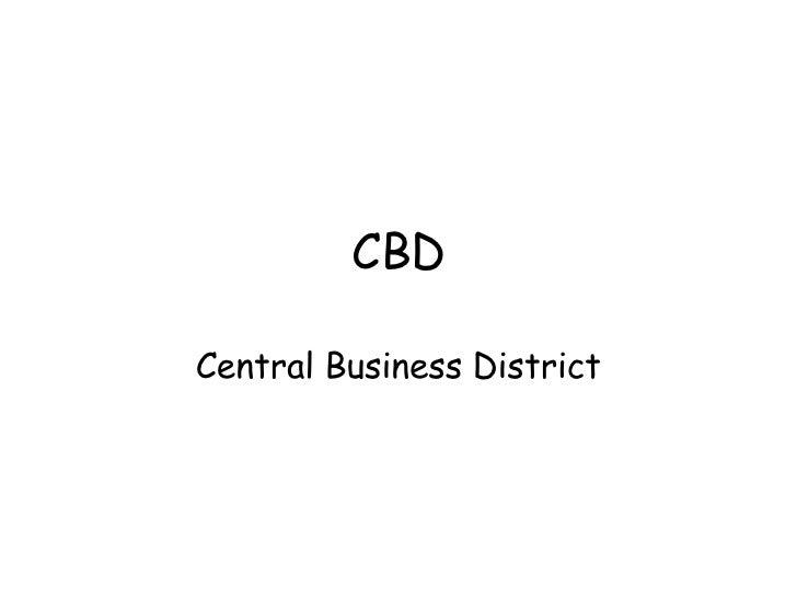 CBD Central Business District