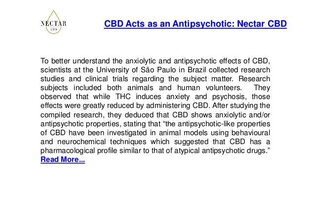 CBD Acts as an Antipsychotic: Nectar CBD