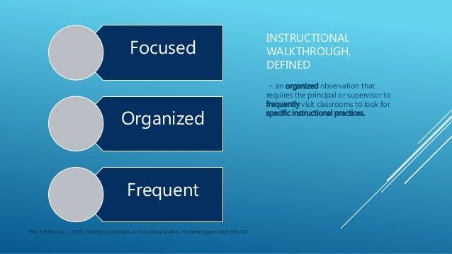 Instructional Walk Throughs 4 12