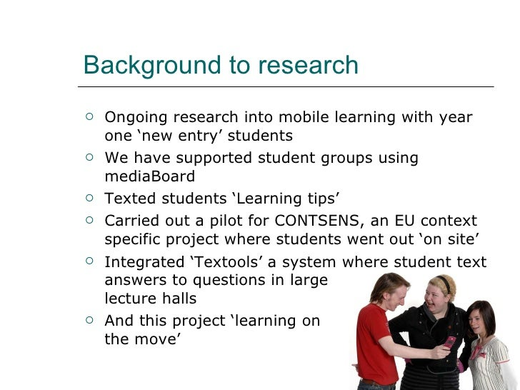 How students in H.E. use their mobile phones for learning Slide 2