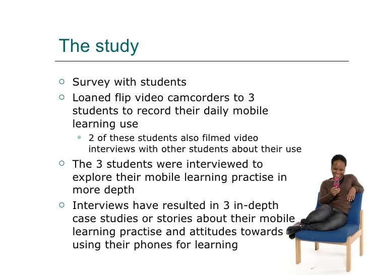 How students in H.E. use their mobile phones for learning Slide 3