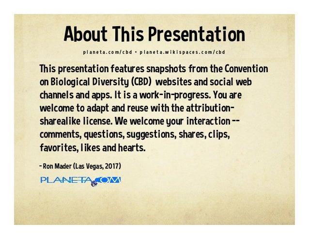 Convention on Biological Diversity on the Social Web Slide 2