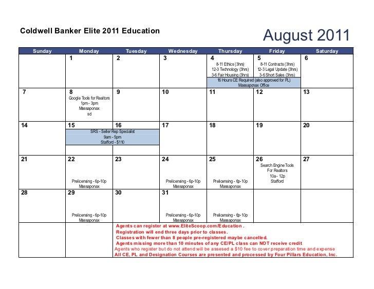 Coldwell Banker Elite 2011 Education                                                                                      ...