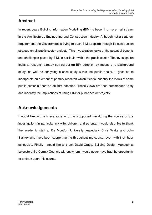 Dissertation Bim
