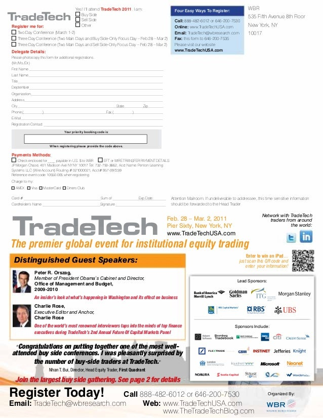Tradetech usa2011 the premier global event for institutional equity trading fandeluxe Choice Image
