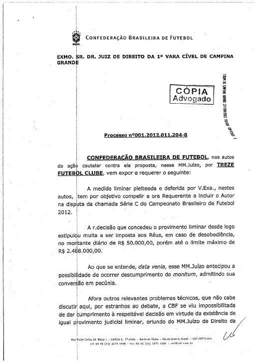 CBF Depositou 2,5 Milhões Para Começar Série C
