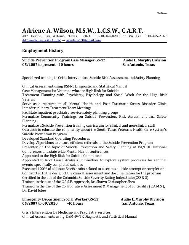 Wilson Adriene A. Wilson, M.S.W., L.C.S.W., C.A.R.T. 407 Devine, ...